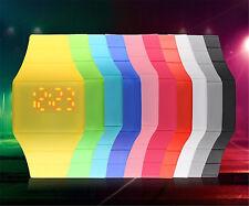8PCS Men Women Thin Silicone Digital LED Touch Sport Bracelet Wrist Watch New