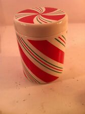 TELEFLORA GIFTS--COOKIE JAR / CANISTER--CHRISTMAS--CANDY CANE --FREE SHIP---EUC