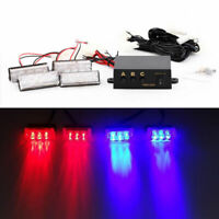 12V 12 LED Red Blue Recovery Strobe Car Truck Flashing Emergency Warning Lights