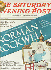 NORMAN ROCKWELL COVER QUILT PATTERN HOLLYWOOD PRESIDENTS SPECIAL MAGAZINE OOP