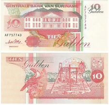 Suriname 10 Gulden 1996 P-137b.2 NEUF UNC Uncirculated Banknote - Toucan
