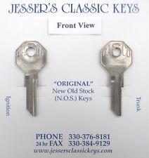 Vintage BASCO GV-2 Pair Hex Headed NOS Keys 1930's Dusenberg Nash Indian White