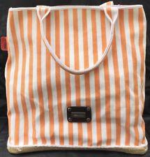 Saldarini 1882 COMO ITALY Espadrille ESPABAG Tote Peach & White Stripe 13 x 12
