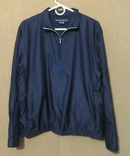 RALPH LAUREN GOLF Men's Pullover Windbreaker Coat Jacket Blue Size L Large