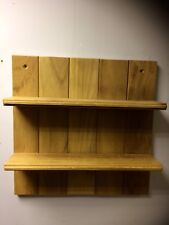 Solid Wood Iroko  Wall Shelf Handmade Offcuts