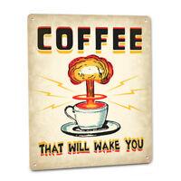 "Coffee Latte Mocha Latte Espresso Novelty Metal Sign 6/"" x 9/"""