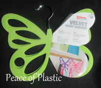 Pink Organize /& Store Scarves new Evelots 2 Velvet Butterfly Scarf Hangers