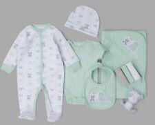 New Baby Unisex 10PC Clothing Set Panda Sleepsuit Bodyvest NB-6 Months Newborn