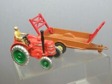 """DINKY TOYS MODEL No.301 FIELD MARSHALL TRACTOR /320 HARVEST TRAILER""""REFINISHED"""""""