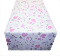 Tischdecke Tischläufer Herzen Herz Liebe rosa Stoff 40 x 130 cm