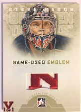 2008-09 Between The Pipes Game-Used Emblem Gold Patch Steve Mason Vault Red 1/1