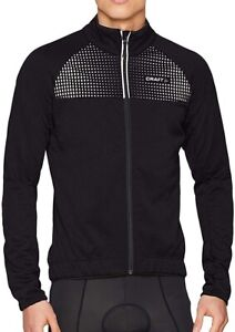 Craft Rime Mens Cycling Jacket Black Softshell Reflective Detailing