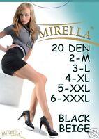 Tights Hosiery Pantyhose Collant 2 M 3 L 4 XL 5 XXL 6 XXXL 20 DEN also plus size