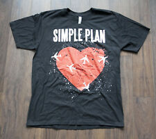 10b2c6a54e53  +  Simple Plan T Shirt Rock Band Size M  C0814