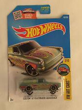 Green CUSTOM '69 VOLKSWAGEN SQUAREBACK - 2015 Hot Wheels Die Cast Car - MOC