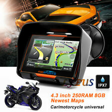 "4.3"" Motorcycle GPS Touch Screen Bluetooth Car Navigation Sat Nav 8GB Map Orange"