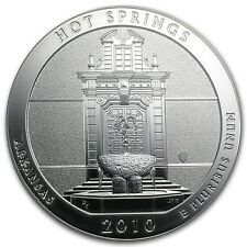 2010 5 oz Silver ATB Coin - Hot Springs National Park, AR