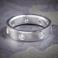 DIAMOND ETERNITY RING PLATINUM GENTS WEDDING BAND 1.44ct OF DIAMONDS