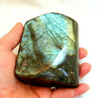 Large Labradorite Natural Iridescent Blue Lustre Freestanding Polished 10cm 640g