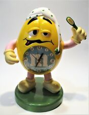 Vintage Mars M&M's  sweet candy big yellow clock (height - 27 cm).not working