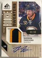2016-17 Hudson Fasching SP Game Used Inked Rookie Sweaters Patch #RS-HF Auto
