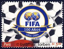 PERU 1959 ** 100 Jahre Fußballverband FIFA Fußball Football Association Soccer