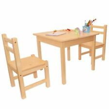 Children's Furniture Solid Pine Wood Set of 3, 1 Table & 2 Chairs, 2nd Quality