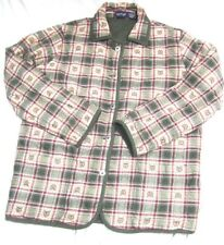 Krazy Kat Womens Quilted Reversible Jacket Multicolor Plaid Apples Size Med NWOT