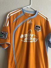 2006 VTG Houston Dynamo Adidas mls jersey, Amigo Energy Clima Cool Orange Large