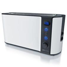 Arendo Frukost 2-Scheiben Toaster stufenlos einstellbarer Bräunungsgrad weiß