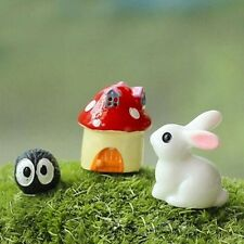 3Pcs Miniature Ornament Rabbit Home Decor Fairy Garden Figurine Bonsai Statue