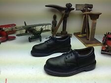 VINTAGE DISTRESSED STEEL TOE RED WING LACE UP BLACK LEATHER POWER SHOES SIZE 7 D
