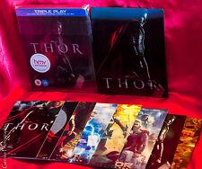 Thor Rare HMV Triple Play Steelbook + Lenticular Magnet + Art Cards, New