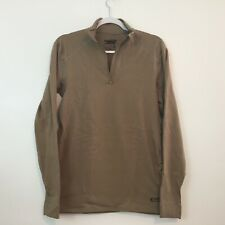 XGO Almost Perfect Phase 4  UPF 50+ Zip Mock Shirt Size M Long Sleeve Brown
