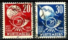 Germany Wurttemberg 1949 UPU Issues Set of 2 Scott's 8N40 -8N41 Mi 51-52 Set  #1