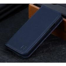 iPhone XS Max Wallet Case Leather Shockproof Flip Cover Card Slot Kickstand Blue