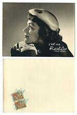 Photo publicitaire vers 1940 Chapeaux de femmes Real Lux Belgium beret profil
