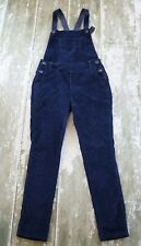 JOHNNIE B BODEN Navy Blue Velour Overalls Pants Long Dungarees Girls Size 11 12