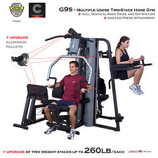 NEW Body-Solid G9S Home Gym Knee Raise Leg Press | 2x 260lb stacks & alu pulleys