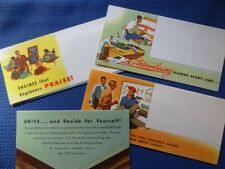 4 piece lot - 1953 CHRYSLER Automobile Brochures Mailers - EXCELLENT ORIGINALS