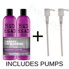 TIGI Dumb Blonde BedHead 50ML Tween / Duo and 2 x Pumps | Shampoo / Conditioner