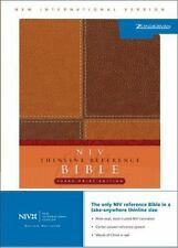 NIV THINLINE BIBLE ITALIAN DUO-TONE BROWN/BROWN By Zondervan **BRAND NEW**