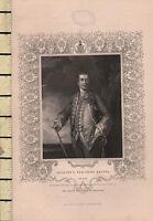 C1830 Georgiano Estampado ~ Augustus Viscount Keppel