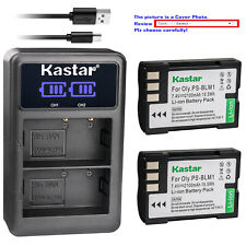 Kastar Battery LCD Dual Charger for Olympus BLM-1 BLM01 Camedia C-5060 Wide Zoom