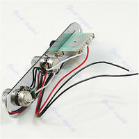 Guitar Chrome Tele Prewired Control Plate 3 Way Switch For Tele New