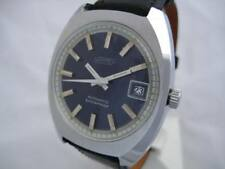 NOS NEW VINTAGE BIG AUTOMATIC DATE SHOCK RESIST NAPPEY MEN'S ANALOG WATCH 1960'S