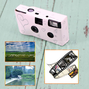 Pack of Hearts Disposable Camera with Flash 27exp for Bridal Wedding Party UK