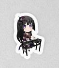 "Bang Dream, Bandori. Laminated 3"" Sticker. Roselia Rinko Chibi"