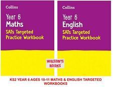 NEW KS2 YEAR 6 SATs TARGETED PRACTICE ENGLISH & MATHS 2 BOOK BUNDLE