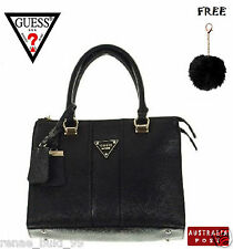 GUESS COPPER SATCHEL TOTE SHOPPER -DUST BAG (RRP - $229) + FREE FLUFFY KEYRING